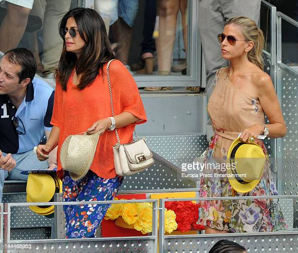 Patricia Cerezo and Nuria Roca attend Mutua Madrilena Madrid Open on May 13 2012 in Madrid Spain
