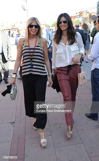 Patricia Cerezo and Nuria Roca attend San Isidro Bullfight 2012 at Plaza de Toros de Las Ventas on May 23 2012 in Madrid Spain