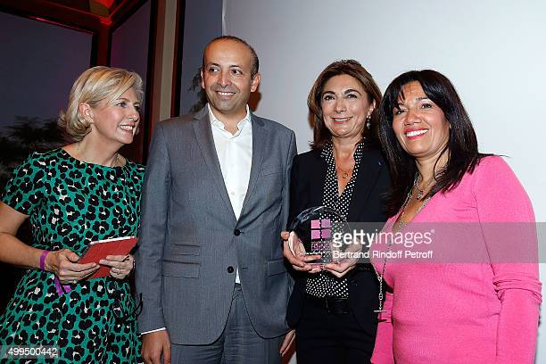 Patricia Chapelotte Rafik Smati Martine Vassal and Samia Ghali attends the 'Prix de la Femme d'Influence 2015' Award Ceremony on December 1 2015 in...