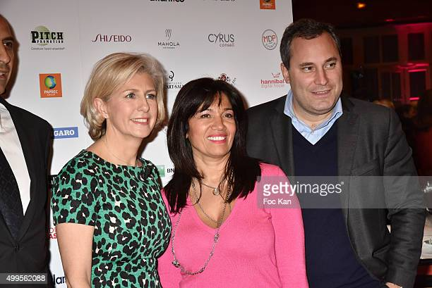 Patricia Chapelotte Samia Ghali and Benjamin Patou from MOMA group attend the 'Prix de la Femme d'Influence 2015' Award Ceremony on December 1 2015...