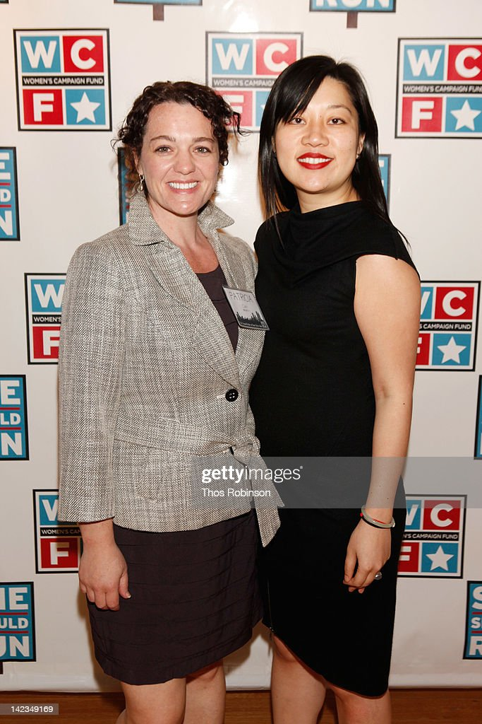 Patricia Clark (L) and Charlie Grosso attend the 32nd Annual Women's Campaign Fund Parties of Your Choice Gala at Christie's on April 2, 2012 in New York City.