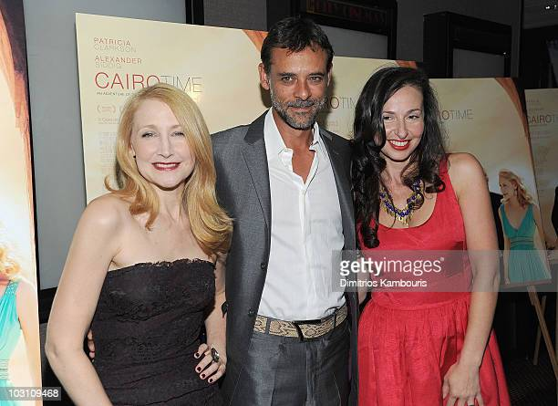 Patricia Clarkson Alexander Siddig and Director Ruba Nadda attend the premiere of 'Cairo Time' at Cinema 3 on July 26 2010 in New York City