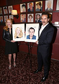 Patricia Clarkson and Alessandro Nivola attend the double caricature unveiling for 'The Elephant Man' costars Patricia Clarkson and Alessandro Nivola...