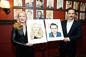 Patricia Clarkson and Alessandro Nivola attend their Sardi's caricature unveiling at Sardi's on April 1 2015 in New York City