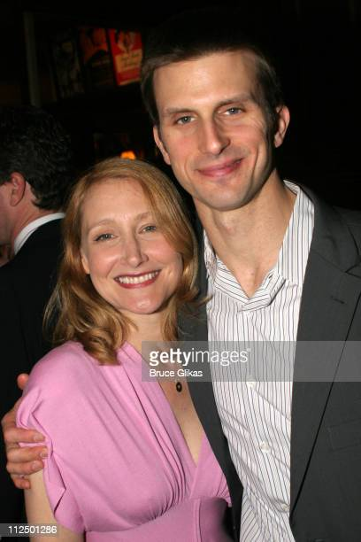 Patricia Clarkson and Frederick Weller during 'Glengarry Glen Ross' Broadway Opening Night Curtain Call and After Party at The Royale Theater and...