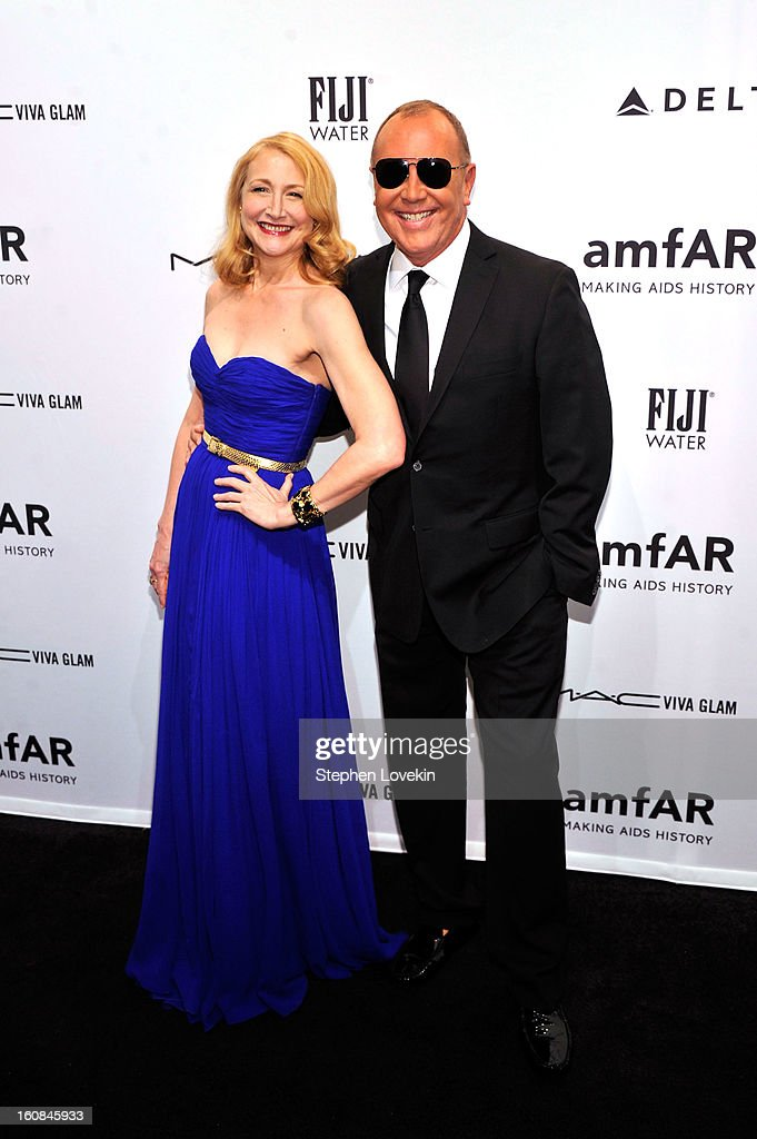 <a gi-track='captionPersonalityLinkClicked' href=/galleries/search?phrase=Patricia+Clarkson&family=editorial&specificpeople=202994 ng-click='$event.stopPropagation()'>Patricia Clarkson</a> and Michael Kors attend the amfAR New York Gala to kick off Fall 2013 Fashion Week at Cipriani Wall Street on February 6, 2013 in New York City.