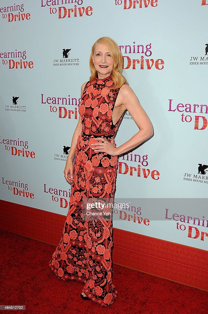 <a gi-track='captionPersonalityLinkClicked' href=/galleries/search?phrase=Patricia+Clarkson&family=editorial&specificpeople=202994 ng-click='$event.stopPropagation()'>Patricia Clarkson</a> attends 'Learning To Drive' New York premiere at The Paris Theatre on August 17, 2015 in New York City.