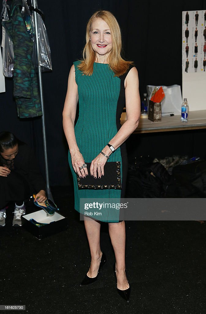 Patricia Clarkson attends Nanette Lepore during Fall 2013 Mercedes-Benz Fashion Week at The Stage at Lincoln Center on February 13, 2013 in New York City.