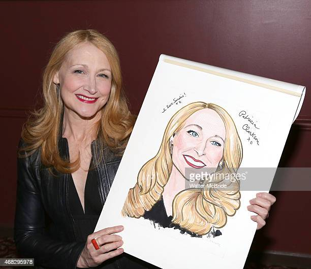 Patricia Clarkson attends the double caricature unveiling for 'The Elephant Man' costars Patricia Clarkson and Alessandro Nivola at Sardi's...