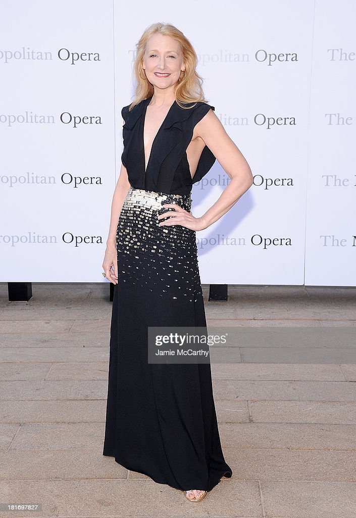 Patricia Clarkson attends the Metropolitan Opera Season Opening Production Of 'Eugene Onegin' at The Metropolitan Opera House on September 23, 2013 in New York City.