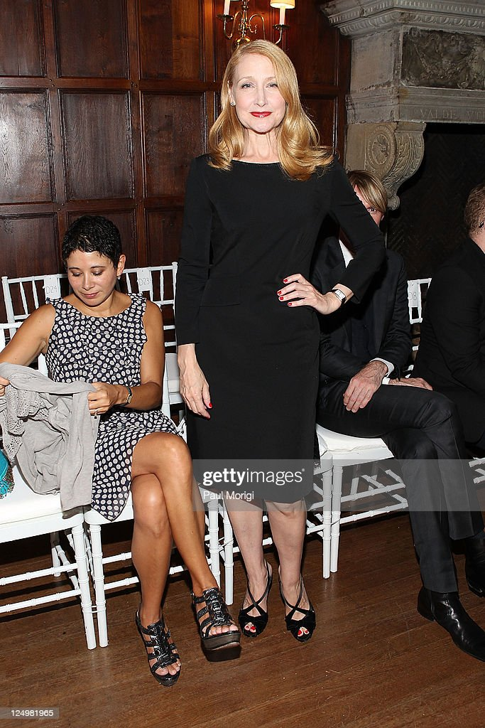 Patricia Clarkson attends the Philosophy Di Alberta Ferretti Spring 2012 fashion show during MercedesBenz Fashion Week at Academy Mansion on...