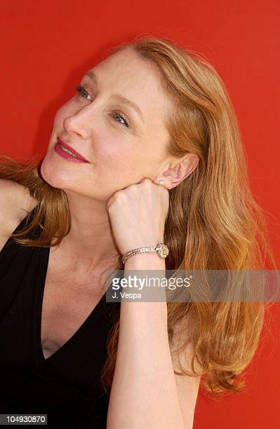 Patricia Clarkson during Cannes 2002 'Welcome to Collinwood' Portraits at Plage du Festival in Cannes France