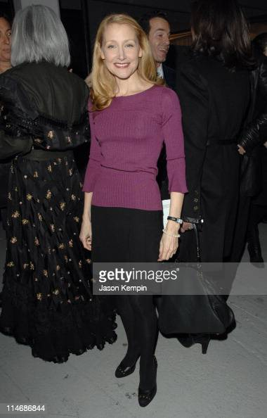 Patricia Clarkson during Mercedes Benz Fashion Week Fall 2007 Philosophy Di Alberta Ferretti Front Row and Backstage at 548 West 22nd Street in New...