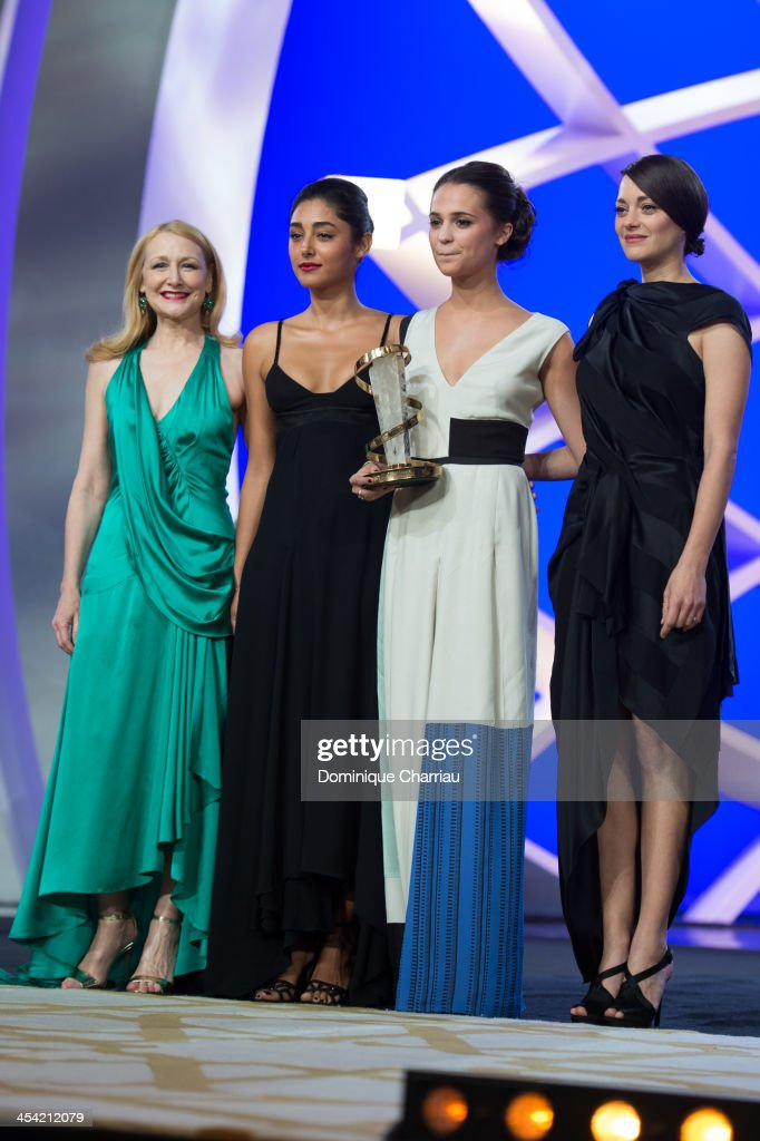 Patricia Clarkson, Golshifteh Farahani, Best Actress Award Alicia Vikander and Marion Cotillard attend the Award Ceremony of the 13th Marrakech International Film Festival on December 7, 2013 in Marrakech, Morocco.