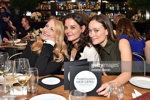 Patricia Clarkson Katie Holmes and Olivia Wilde attend Through Her Lens The Tribeca Chanel Women's Filmmaker Program luncheon at Locanda Verde on...