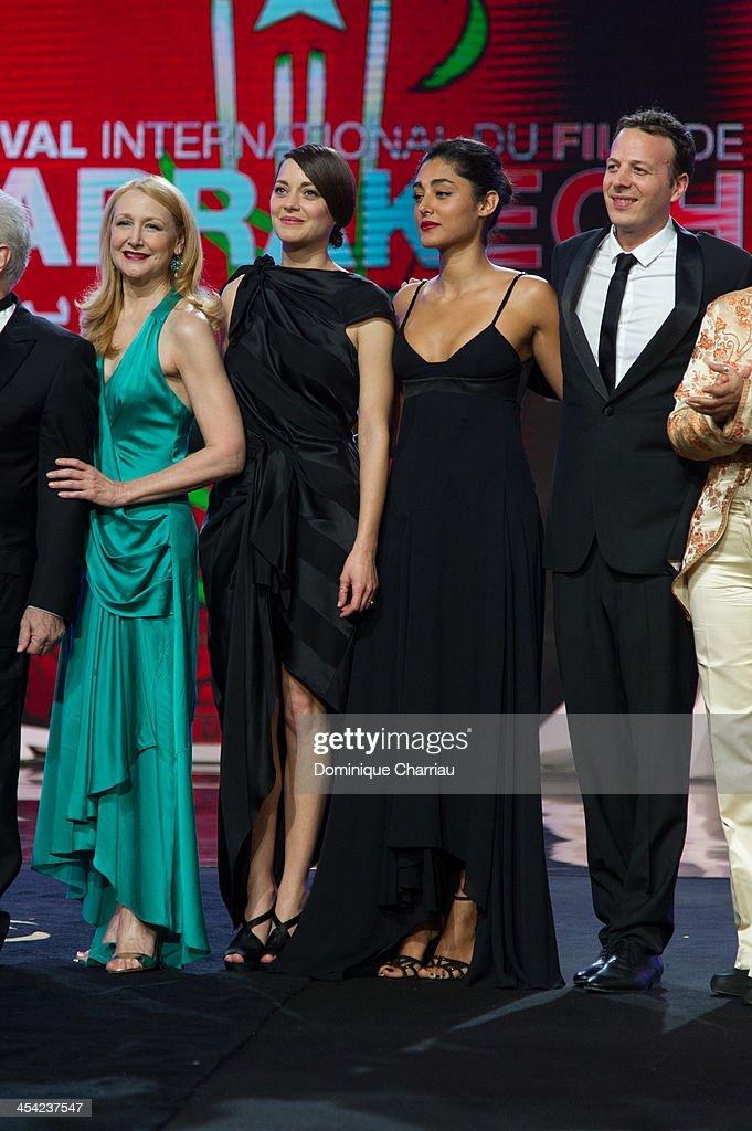 Patricia Clarkson, Marion Cotillard and Golshifteh Farahani attends the award Ceremony 2013' At 13th Marrakech International Film Festival on December 7, 2013 in Marrakech, Morocco.
