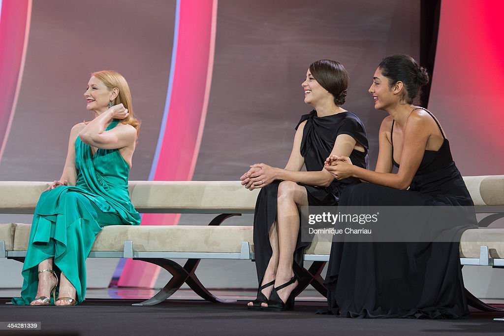 Patricia Clarkson, Marion Cotillard and GolshiftehFarahani attend the Award Ceremony of the 13th Marrakech International Film Festival on December 7, 2013 in Marrakech, Morocco.