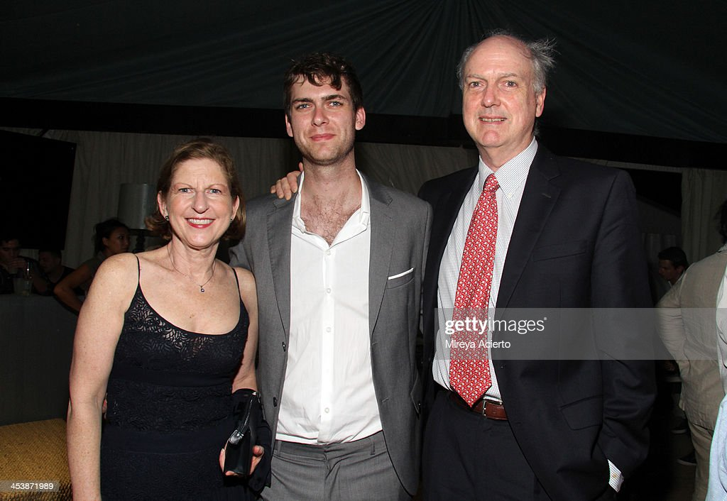 Patricia Cleveland, Carter Cleveland and David Adams Cleveland attend the Artsy celebration for CalArts' John Baldessari Studios, with Audi, Valentino, and Vhernier at Soho Beach House on December 5, 2013 in Miami Beach, Florida.