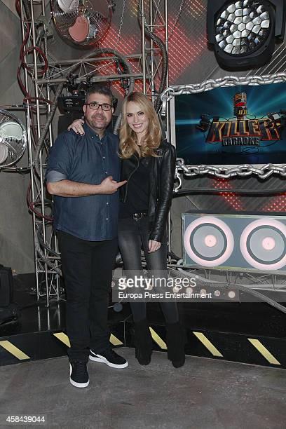 Patricia Conde and Florentino Fernandez present 'Killer Karaoke' Tv programme for Cuatro TV channel on November 4 2014 in Madrid Spain