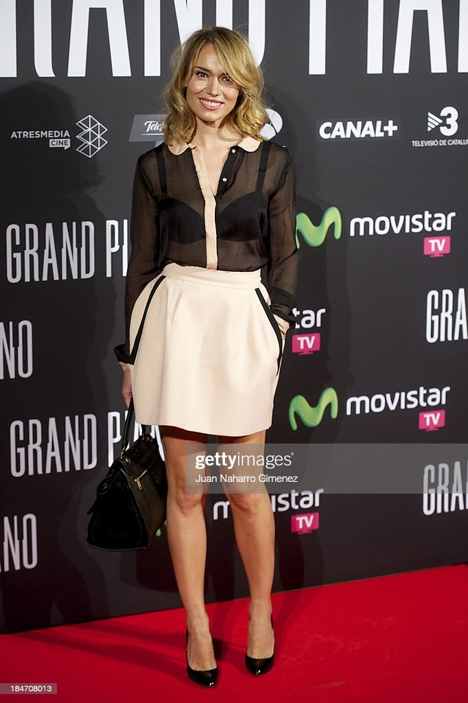 Patricia Conde attends 'Grand Piano' premiere at the Capitol Cinema on October 15, 2013 in Madrid, Spain.