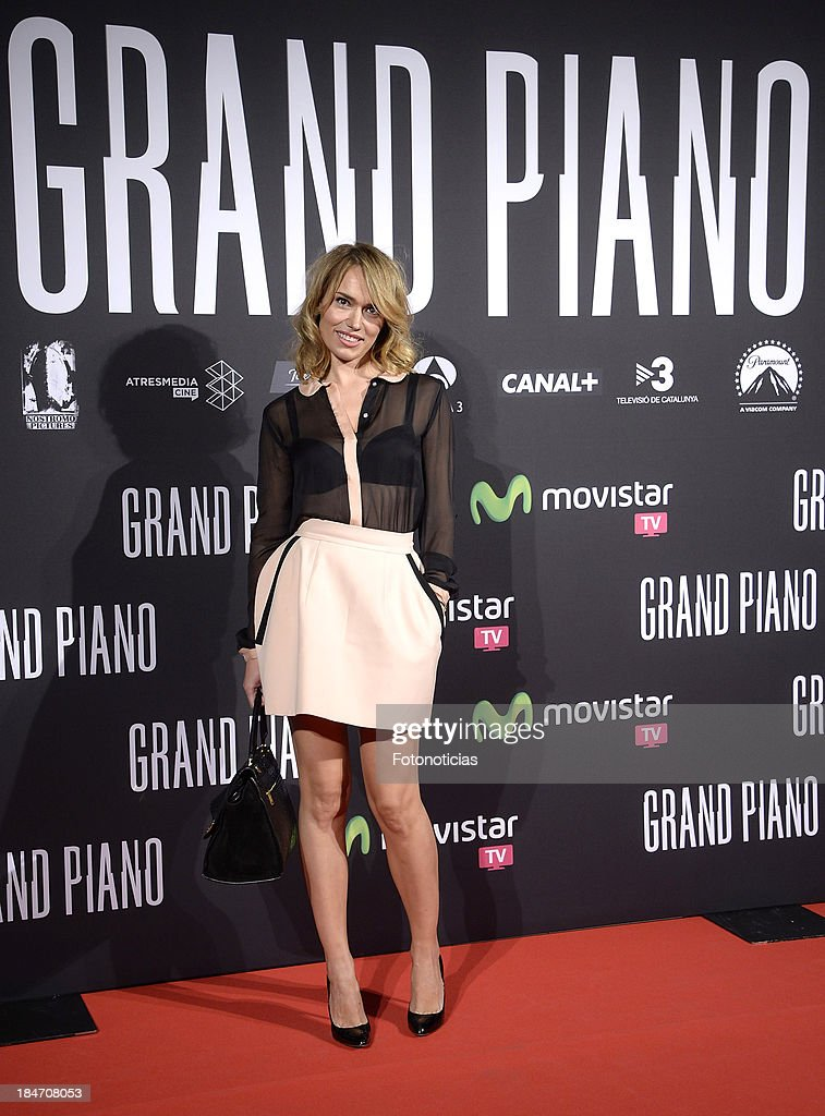 <a gi-track='captionPersonalityLinkClicked' href=/galleries/search?phrase=Patricia+Conde&family=editorial&specificpeople=2471941 ng-click='$event.stopPropagation()'>Patricia Conde</a> attends the premiere of 'Grand Piano' at Capitol cinema on October 15, 2013 in Madrid, Spain.
