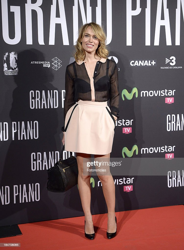 Patricia Conde attends the premiere of 'Grand Piano' at Capitol cinema on October 15, 2013 in Madrid, Spain.