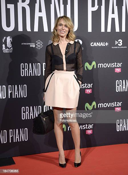 Patricia Conde attends the premiere of 'Grand Piano' at Capitol cinema on October 15 2013 in Madrid Spain
