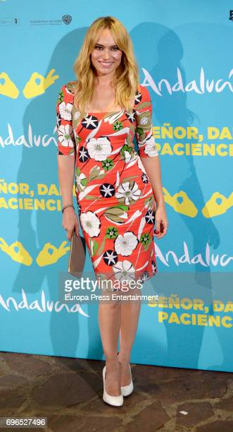 Patricia Conde attends the 'Senor dame paciencia' premiere at Fortuny Palace on June 15 2017 in Madrid Spain