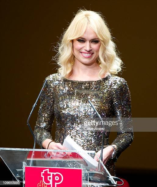 Patricia Conde attends the 'TP Awards 2010' at the Canal Theater on February 28 2011 in Madrid Spain