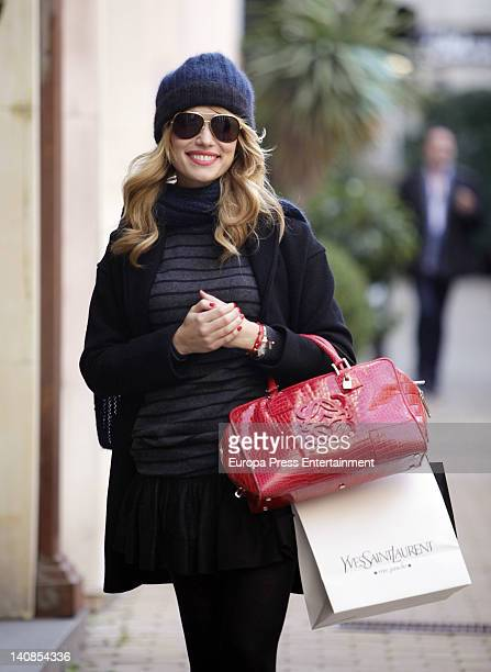 Patricia Conde is seen going shopping on March 5 2012 in Madrid Spain