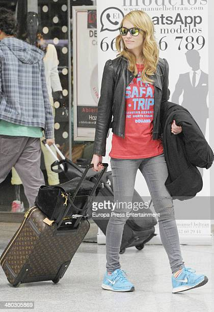 Patricia Conde is seen on March 23 2014 in Malaga Spain