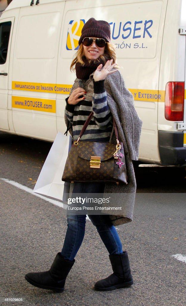 Celebrities Sighting In Madrid - November 20, 2013