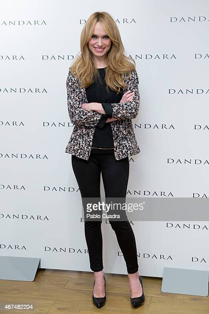 Patricia Conde poses during a photocall to present the new PV15 Collection by Dandara at Dandara shop on March 25 2015 in Madrid Spain