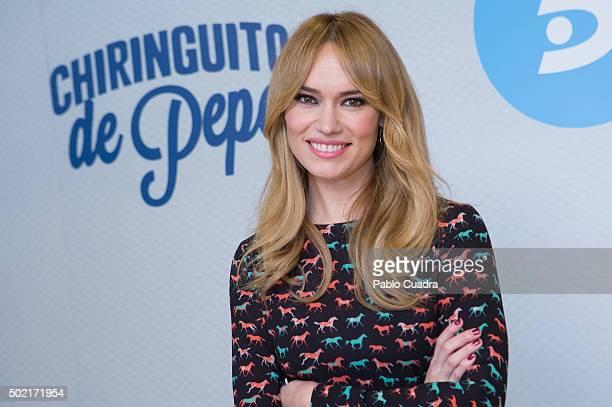 Patricia Conde presents the 'Chiringuito de Pepe' Second Season at Mediaset Studios on December 21 2015 in Madrid Spain