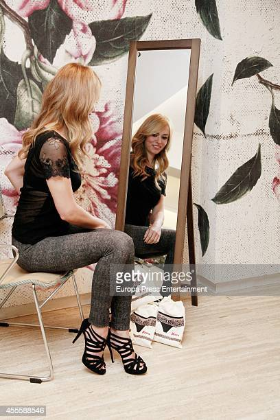 Patricia Conde presents the new leggins collection 20142015 AutumnWinter By Janira on September 17 2014 in Madrid Spain