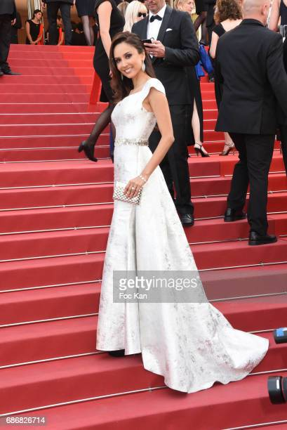 Patricia Contreras dressed by Christophe Guillarme attends the 'The Meyerowitz Stories' screening during the 70th annual Cannes Film Festival at...