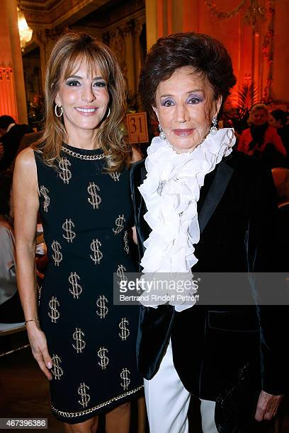 Patricia d'Arenberg and Countess Jacqueline de Ribes attend the 'Societe des Amis du Musee D'Orsay' Dinner Party at Musee d'Orsay on March 23 2015 in...