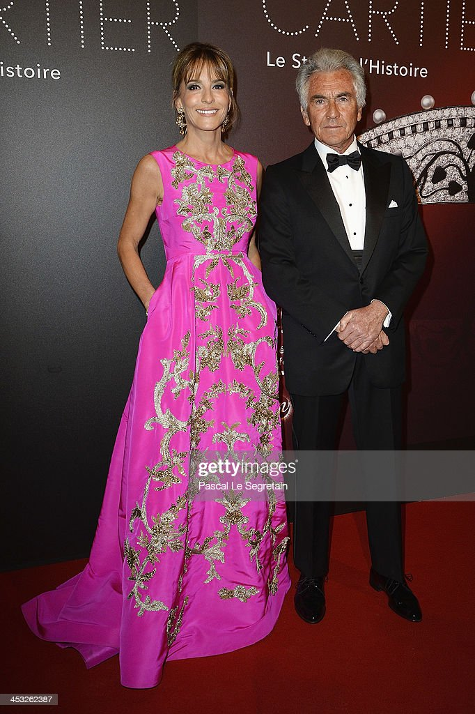 Patricia D'Arenberg and Jean-Paul Enthoven arrive at 'Cartier: Le Style et L'Histoire' Exhibition Private Opening at Le Grand Palais on December 2, 2013 in Paris, France.