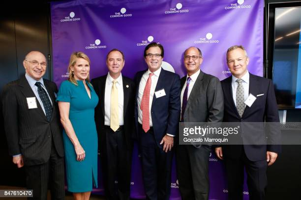 Patricia Duff Adam Schiff Peter Maroney during the The Common Good's presents 'A conversation with Congressman Adam Schiff' hosted by former Homeland...