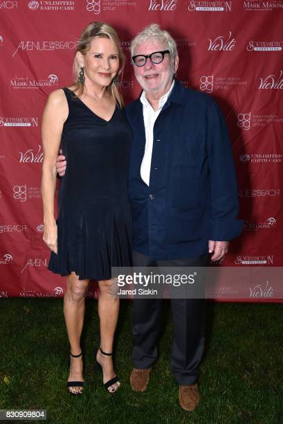 Patricia Duff and Richard Cohen attend AVENUE on the Beach's Summer Soiree at The Baker House on August 12 2017 in East Hampton New York