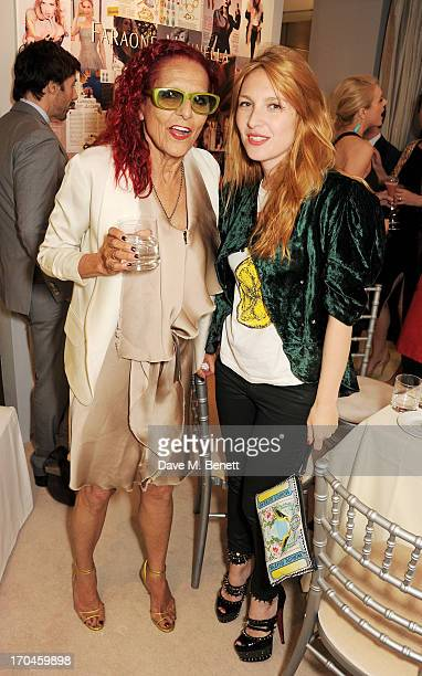 Patricia Field and Josephine de la Baume attend the 12th birthday of New York jewellery house Fararone Mennella with guest of honour Patricia Field...