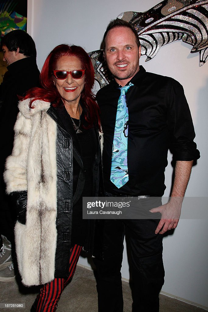 Patricia Field and Kevin McHugh attend Kevin McHugh Pucci-Inspired Sculpture Collection launch at The Out NYC on November 30, 2012 in New York City.