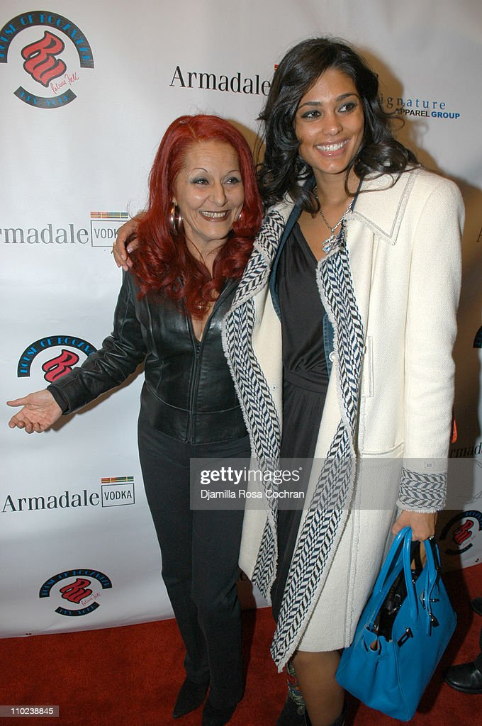 Patricia Field and Rachel Roy during Patricia Field for the House of Rocawear Lounge at Ono at the Hotel Gansevort in New York City New York United...