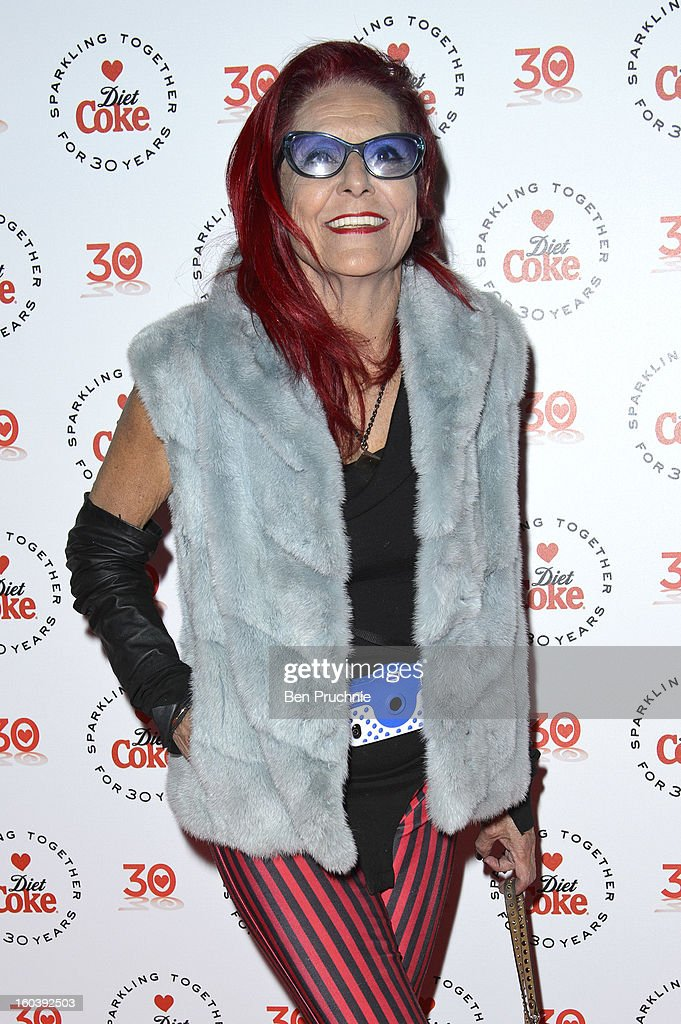 Patricia Field attends a party hosted by Diet Coke at Sketch on January 30, 2013 in London, England.