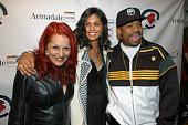 Patricia Field Rachel Roy and Damon Dash during Patricia Field for the House of Rocawear Lounge at Ono at the Hotel Gansevort in New York City New...