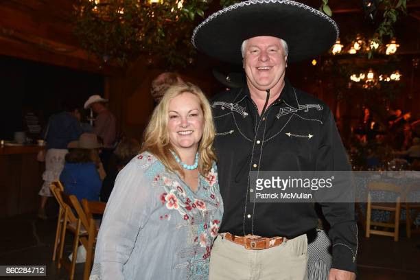 Patricia Hearst Shaw and Jamie Figg attend Hearst Castle Preservation Foundation Annual Benefit Weekend 'Hearst Ranch Patron Cowboy Cookout' at...