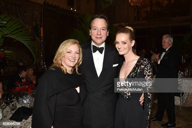 Patricia Hearst Shaw George Farias and Lydia Hearst attend Hearst Castle Preservation Foundation Benefit Weekend 'James Bond 007 Costume Gala' at...