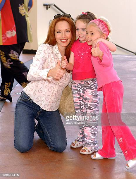 Patricia Heaton and children during Celebrity Fundraiser for the Children Affected by AIDS Foundation Celebrates the West Coast Premiere of 'Dora the...