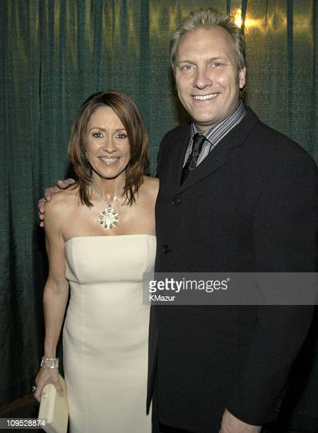 Patricia Heaton and husband David Hunt during TNT's 'Christmas in Washington' Concert Backstage at The National Building Museum in Washington DC...
