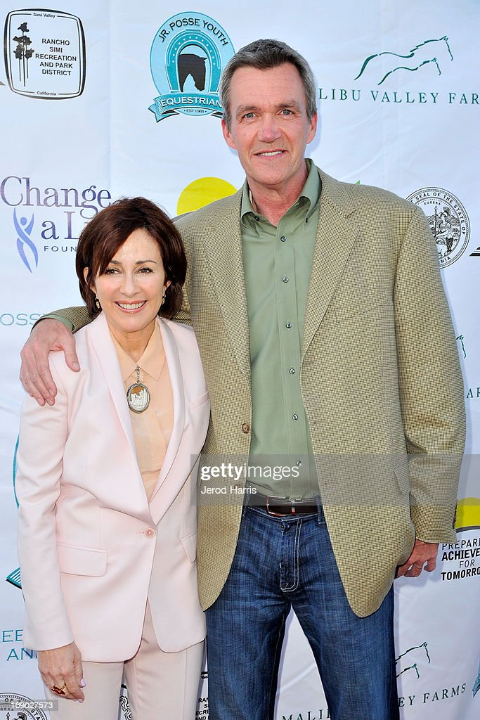 <a gi-track='captionPersonalityLinkClicked' href=/galleries/search?phrase=Patricia+Heaton&family=editorial&specificpeople=173459 ng-click='$event.stopPropagation()'>Patricia Heaton</a> and <a gi-track='captionPersonalityLinkClicked' href=/galleries/search?phrase=Neil+Flynn&family=editorial&specificpeople=556309 ng-click='$event.stopPropagation()'>Neil Flynn</a> arrive at the 6th Annual Compton Jr. Posse Gala at the Los Angeles Equestrian Center on May 18, 2013 in Los Angeles, California.